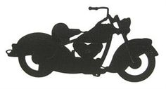 Classic Motorcycle Free Standing Silhouette