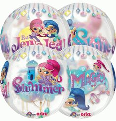 Shimmer and Shine Orbz is a beautiful balloon showing the Shimmer and Shine girls all around the balloon. We have sold so many because of their popularity. Kids to love to see it at their party. You can order from our site this great Shimmer and Shine party balloon.