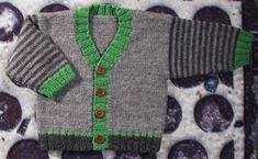 Boys Grandad Cardigan *Knitting pattern* 6 sizes* Newborn to 4 Years Knitting pattern by Jette Walters