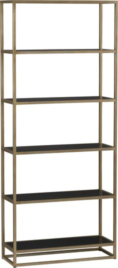 Remi Bookcase    Crate and Barrel... gorgeous, no wonder it's on backorder until late February!