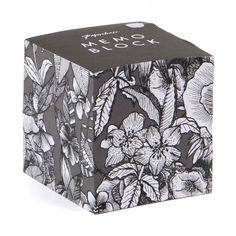 Mono floral memo block