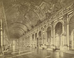 Versailles Palace. Hall of Mirrors 1858