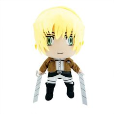 "If you got me this I promise to snuggle it every night! 12"" Attack on Titan Armin Arlert Stuffed Plush Doll"