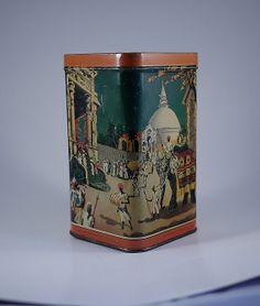 Your place to buy and sell all things handmade Lipton, Tea Tins, Vintage Tins, 1940s, Pots, Oriental, Shapes, Antiques, Awesome