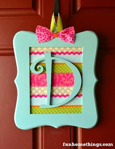 Fun Home Things: Spring Picture Frame Wreath DIY
