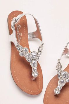 f8dd35a72 Blossom Grey Sandals (T-Strap Sandal with Halo Crystals) Grey Sandals