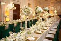 Tablescape, Oheka Castle, Flowers by: Pedestals Floral Decorators, Photo: Millimeter Photo - New York Wedding http://caratsandcake.com/figandjoey