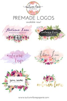 Autumn Lane Paperie provides business branding and website design for the creative professional and small business owner. Logo Floral, Business Branding, Logo Branding, Branding Design, Brand Identity, Business Logo Design, Watercolor Flower, Watercolor Logo, Web Design