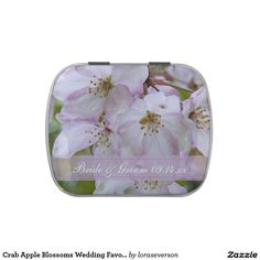 Crab Apple Blossoms Wedding Favor Candy Tin