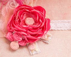 Pinkie Pie Boutique Headband- photo prop- princess- all sizes available- Made by Mckenzie Grace Designs