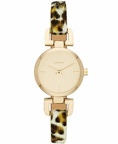 DKNY Watch, Women's Leopard Dyed Calf-Hair Leather Strap 24mm NY8880 - Women's Watches - Jewelry & Watches - Macy's