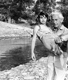 Nadine Nortier and Robert Bresson on the film set of Mouchette, 1967-2