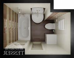 Bathroom ☆☆☆☆☆ Tiny Bathrooms, Tiny House Bathroom, Bathroom Design Small, Bathroom Layout, Bathroom Interior Design, Bathroom Plans, Toilet Design, Apartment Design, Design Case