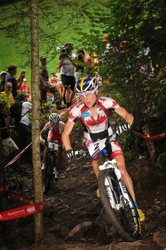 Catharine Pendrel during MTB World Championships @ Champéry http://www.benjamintheys.be/Sports