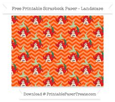 FreeOrange Chevron Large Ariel Pattern Paper - The Little Mermaid
