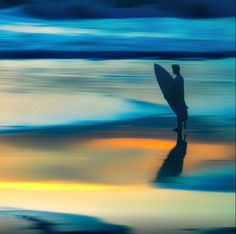 Waiting for the big one - Surfer watching the waves from shore #photography by Tom K on #500px #sunset #surfing
