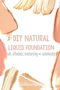 Liquid Foundation Recipe - Wellness Mama This natural liquid foundation airbrushing creme is amazing for skin and makes it look amazing with shea butter, aloe, witch hazel, argan oil and minerals.This natural liquid foundation airbrushing creme is amazing Organic Skin Care, Natural Skin Care, Natural Beauty, Natural Makeup, Natural Face, Natural Oils, Organic Makeup, Au Natural, Organic Beauty