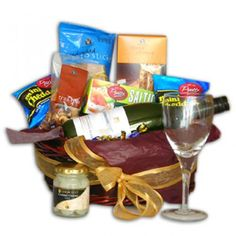 Sophisticated White Wine and Savory Snack Gift Box to Saint-Pierre-and-Miquelon