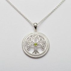 Silver Celtic Tree of Life Pendan