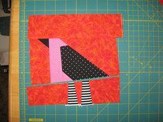 pieced bird quilt block tutorial