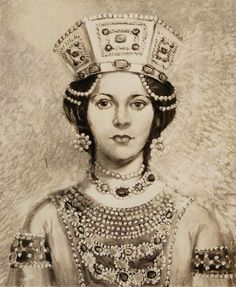 Portrait of a Byzantine Empress  Artist: Blanche Collet Wagner