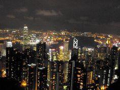 the million dollar nighttime lights of the city