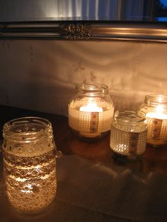 ...and then you´ll have beautiful and decorative jars for candles:).