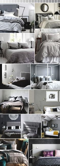 Ideas for decorating a bedroom in grey..
