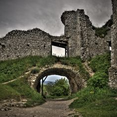 Ruins of Cachtice Castle, Slovakia. Home of Elizabeth Bathory, aka The Blood Countess