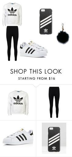 """Adidas"" by jahnae-lil-kodak47 ❤ liked on Polyvore featuring adidas Originals, Boohoo, adidas and MICHAEL Michael Kors"