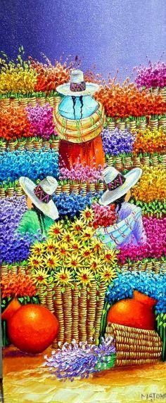 Hispanic Art, Peruvian Art, South American Art, Mexico Art, Naive Art, Mexican Folk Art, Cool Paintings, Modern Art, Art Projects