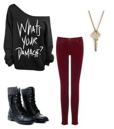 """""""Damage"""" by avagrods on Polyvore featuring The Giving Keys and AG Adriano Goldschmied"""