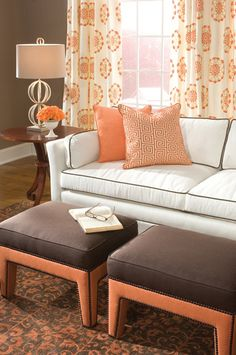 Fabrics from the Philip Gorrivan for Highland Court collection enrich this living room. Duralee Suite 38 in MDC