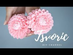 Simple steps to make artificial grass flower , suitable for decorating in the home or as an excellent auxiliary material in the bouquet. Paper Origami Flowers, Crepe Paper Flowers Tutorial, Paper Flowers Craft, Flower Crafts, Diy Flowers, Fabric Flowers, Crepe Paper Crafts, Fleurs Diy, Flower Video