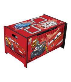 Baúl juguetero de Cars. Material madera. TB84715CR