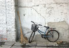20 x 16 A Broom and a Bike Wall Art Beijing China by glennisphotos, $47.00