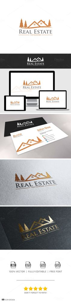 Real Estate Logo by Seceme Shop on Creative Market