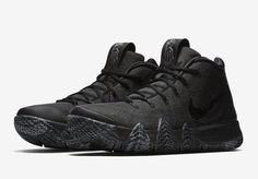 "dd2ddad9436445 Nike Kyrie 4 ""Triple Black"" - Lifestyle news website covering streetwear"