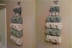 porte serviette de salle de bain, design de porte serviettes original
