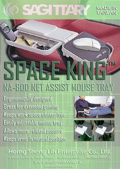 Space King NA-800 Net-Assist Organiser & Mouse Tray by Sagittary