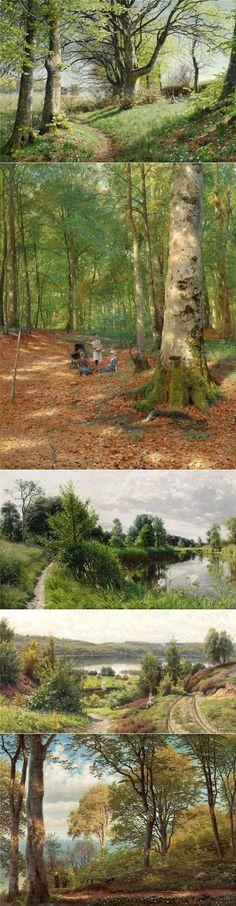 Лесные прогулки... Peder Mork Monsted   искусство   Постила