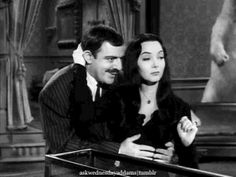 my gif vintage horror gifset the addams family carolyn jones Gomez Addams Morticia Addams John Astin Addams Family cat addams The Addams Family 1964, Addams Family Tv Show, Adams Family, Morticia Addams, Gomez And Morticia, Carolyn Jones, Family First, Family Love, John Astin