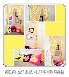 Make your own reading nook in the corner.  LOVE this idea for Princess Jordyn