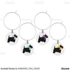 Scottish Terrier Wine Charm