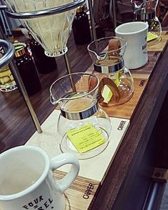 """""""Testing demonstration for coffee show.  Whole selection of 5 wood editions"""" ©pebblecoffeetaiwan #ouvercoffeestation  #dripstation #dripitlikeitshot #coffeeart #brewbar #brew #dripcoffee #coffee #singleorigin #germany #shareit #likeit #brewguide #handcrafted #coffeehouse #pourover #hario #chemex #aeropress #v60 #coffeelove  #carpenter #kaffee #saw #pouroverstand #pouroverstation #latteart #dripper #ouverstand"""
