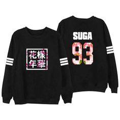 Bangtan 소년 케이팝 BTS 여성 후드 편지 인쇄 J-HOPE 94 SUGA 93 여성 xxxl 후드 정66 인 한국 97