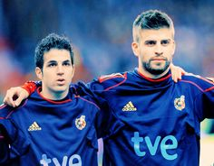Football Friendship- Cesc Fabregas and Gerard Pique