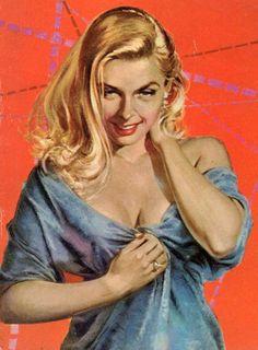 Pulp Fiction Art, Pulp Art, Noir Color, Pin Up Girl Vintage, Vintage Pins, Cartoon Girl Images, Figure Poses, Arte Pop, Vintage Artwork