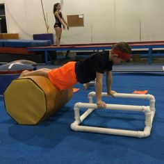 A couple drills to get boys started doing plaunges early. #parallelbars #boysgymnastics #gymnastics #gymnasticsdrills
