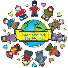 """PAGE 2 - MULTICULTURAL: FRIENDSHIP GLOBE / CIRCLE CLIP ART GRAPHICS for """"GLOBAL KIDS"""""""